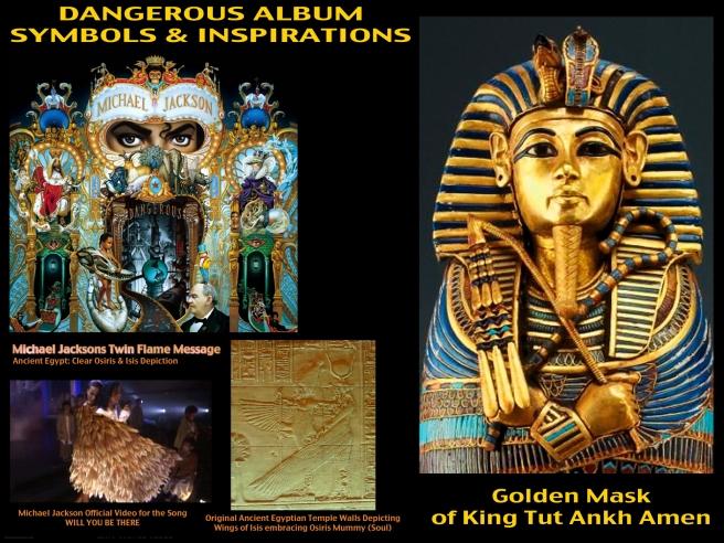 Michael Jackson King Tut Golden Mask Art Dangerous Album Insider Information