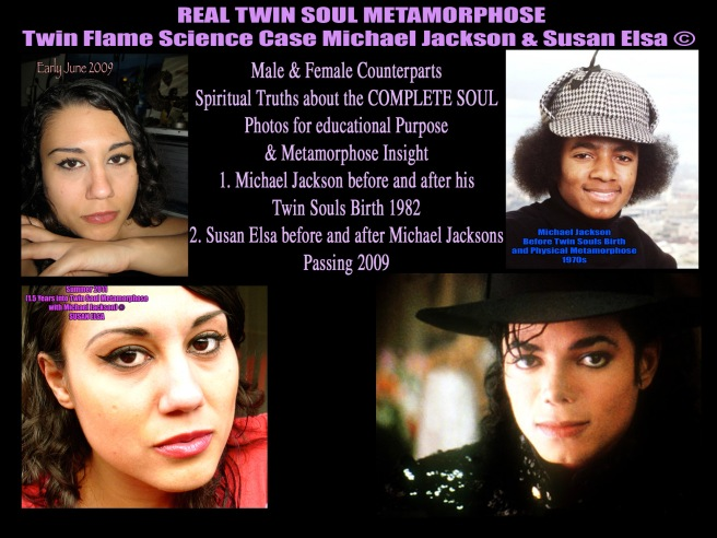 Michael Jackson Twin Flame Physics & Biology Research Europe: Susan Elsa & Michael Jacksons Facial Features Merging ©