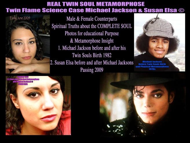 Michael Jackson Twin Flame Physics & Biology Research Europe: Susan Elsa & Michael Jacksons Facial Features Merging ©