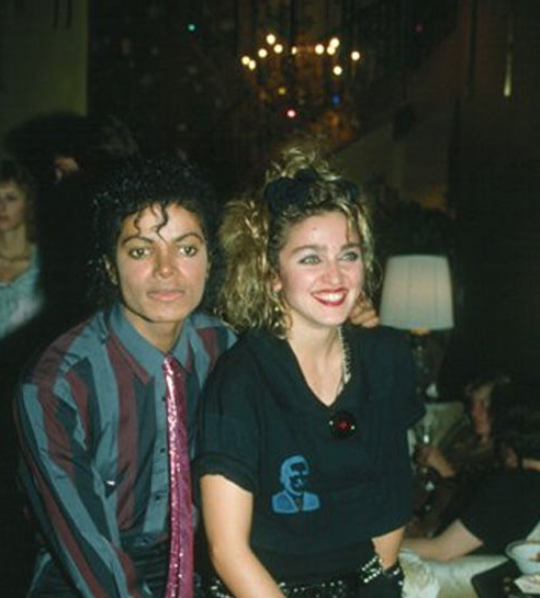 Michael Jackson: Madonna was the Inspiration for Dangerous Song Girl Message - Early Backstage Picture Thriller Era