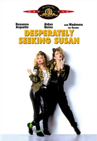 Madonna as Susan in the Film Desperately Seeking Susan: Michael Jackson Dangerous Album Cover Art: Ancient Egypt VS Rome Meanings- Real VS False