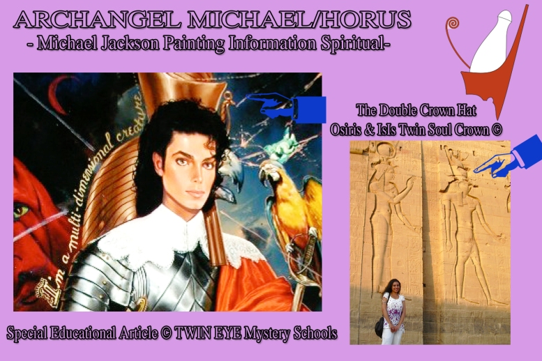 Archangel Michael Horus Painting Spiritual Information © Twin Flame Soul Official Releases and More by Susan Elsa