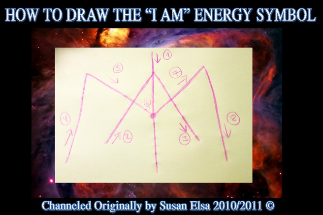 I AM Energy Symbol: How to Draw it into the Aura © Archangel Michaels Marriage