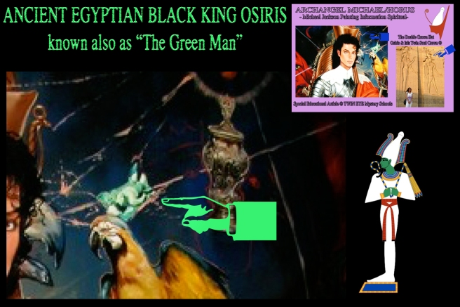 Michael Jackson Archangel Horus Osiris Green Man Symbolism Neverland Painting © Twin Flame Soul Special Article Analysis Insider Information and More