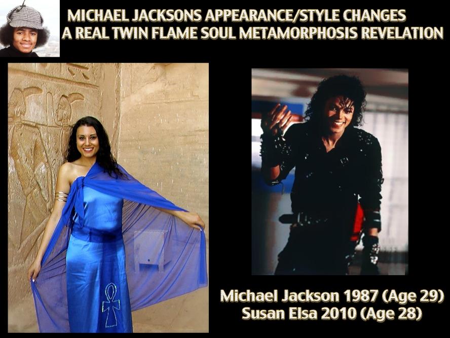 Michael Jackson Twin Metamorphose: Same Age Images Comparison Twin Flame Soul Susan Elsa ©