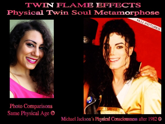 Twin Flame Effect Soul Metamorphose Michael Jackson Susan Elsa Same Physical Age Photos