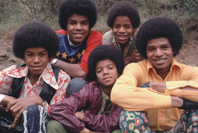 MJ and Jackson 5 Sweet Family Photo
