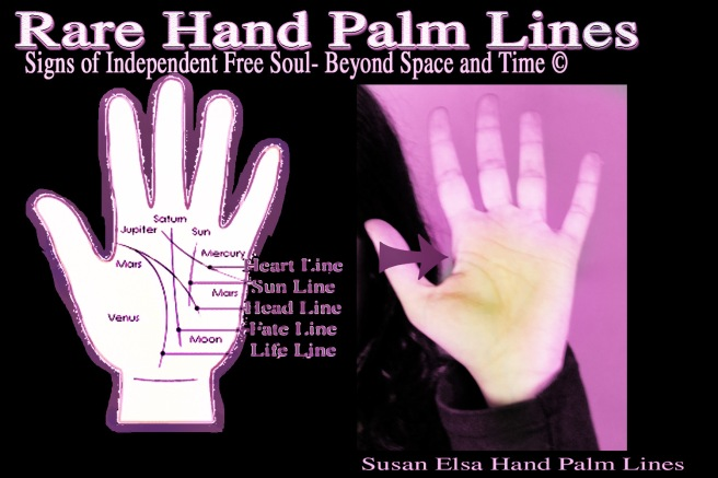 Rare Hand Palm Lines Information Special Mark: Independent Free Soul and Not Bound to Space and Time Knowledge ©