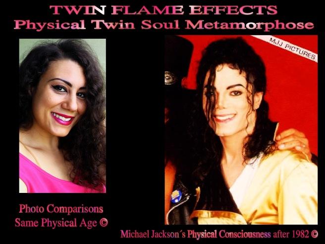Twin Flame Effect Soul Metamorphose Michael Jackson Susan Elsa Same Physical Age Photos © Michael Jackson TwinFlame Soul Official