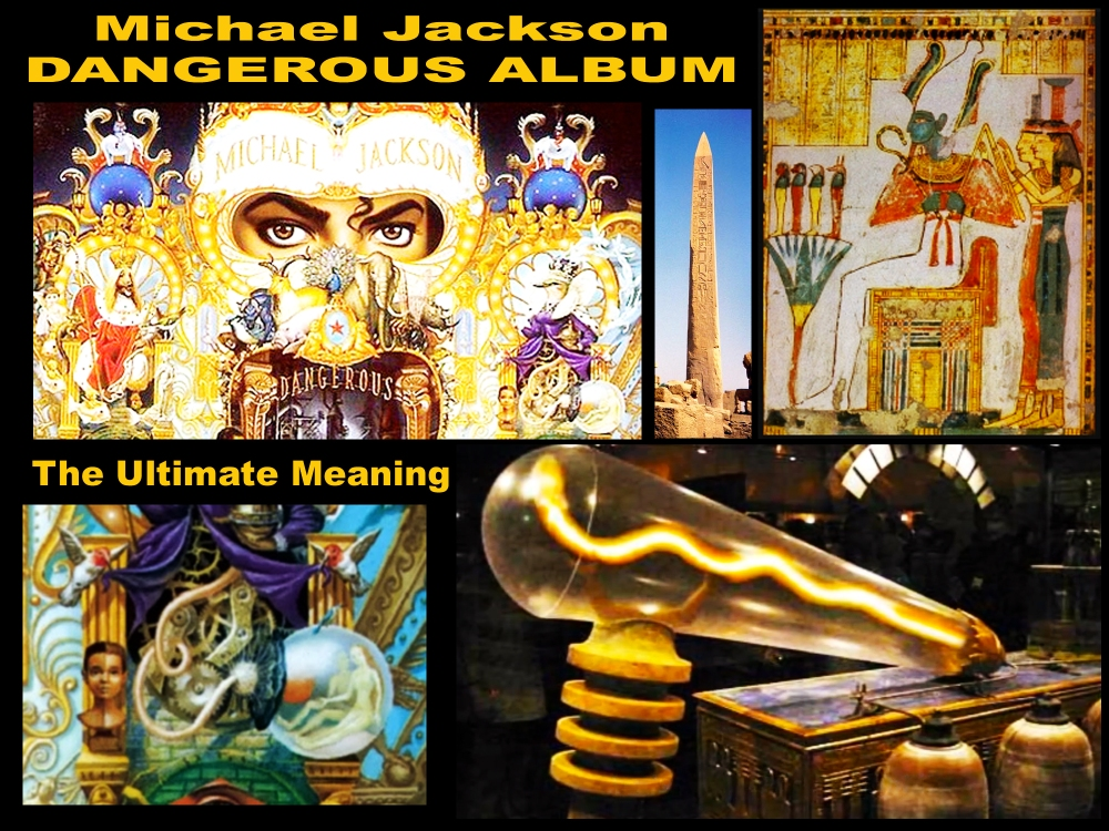 Michael Jacksons Dangerous Album Art Cover Facts: Twin Soul Light Bulb Ancient Egypt Knowledge Osiris and Isis Twin Flames Spiritual Energy Information
