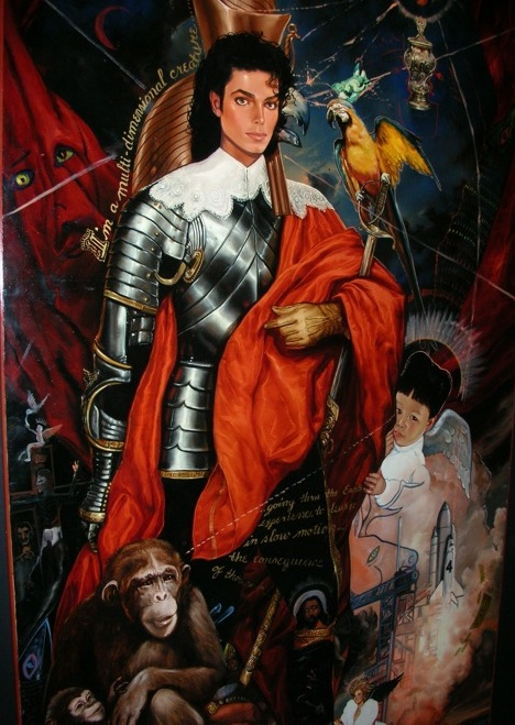 Archangel Michael Jackson Painting Neverland