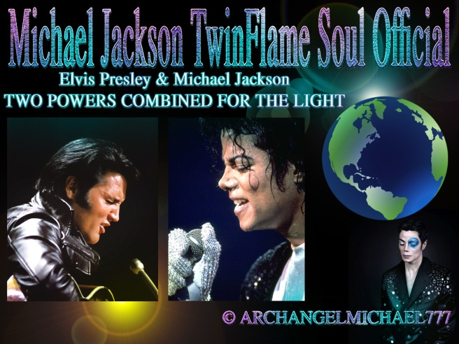 Michael Jackson and Elvis Presley: TWO POWERS COMBINED FOR THE LIGHT © Michael Jackson TwinFlame Soul Official