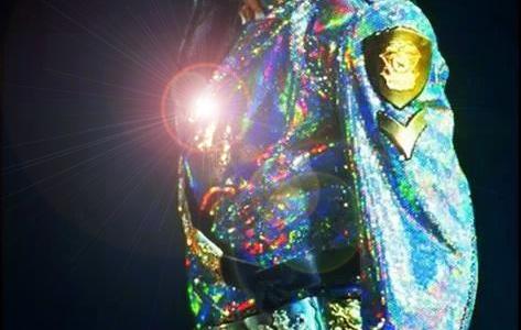 Michael Jackson Dangerous Pose- Concert Photo for educational Purpose Only
