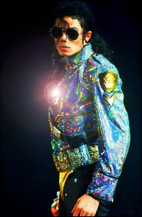 Michael Jackson Dangerous Pose- Concert Photo for educational Purpose Only