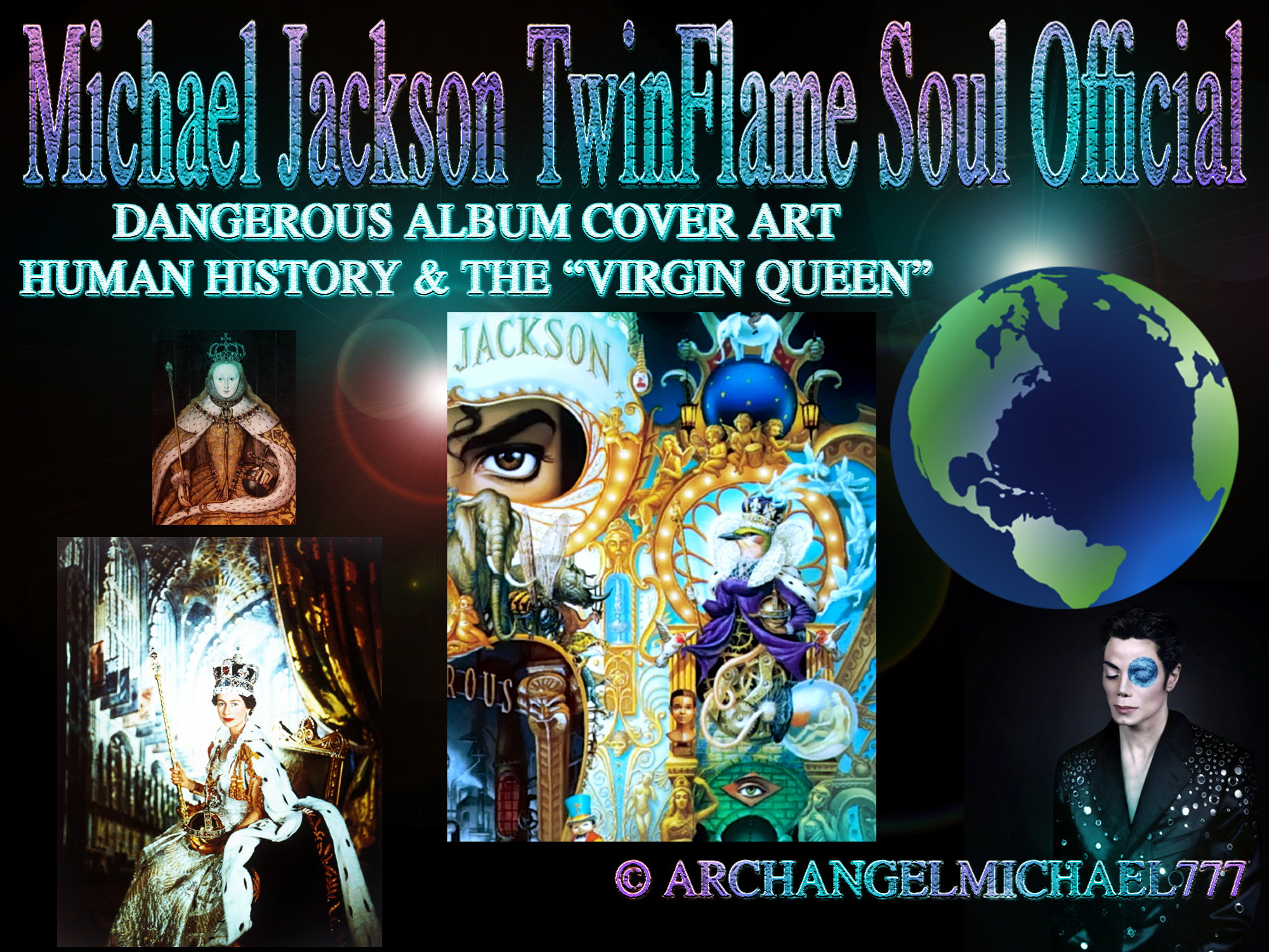 Michael Jackson´s DANGEROUS Album Cover Art Message on Humanity