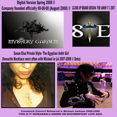 About Michael Jacksons Private Muse 2007/2008: MYSTERY-GARDEN-ANKH-BRAND-LOGO-2008 © Susan Elsa