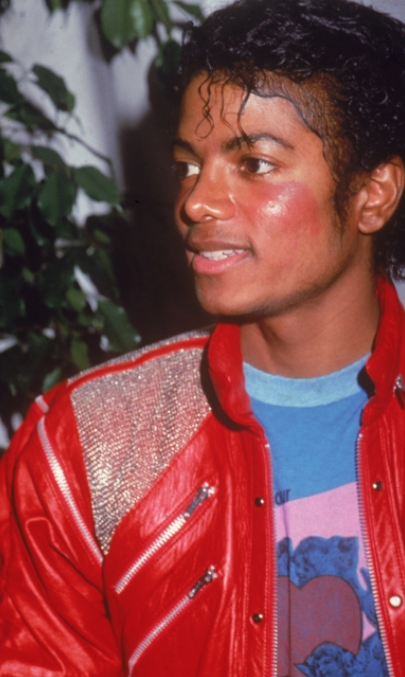Michael Jackson After 1982: Recording Beat It with T-Shirt Heart Surrounded by BLUE ANGELS - Photo for Educational Purpose Twin Soul Metamorphosis Story Information