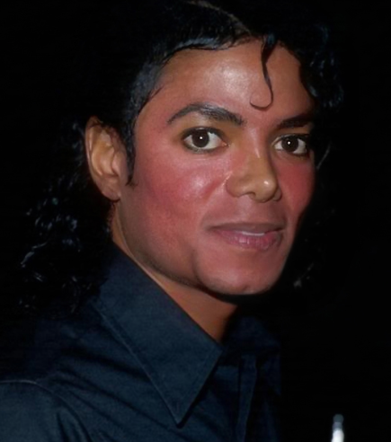 Michael Jackson working on the BAD Album with Skin Disorder Vitiligo- Photo for Educational Purpose