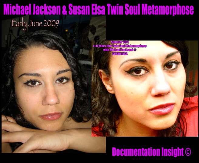 Susan Elsa Picture Analysis 2009 and 2011- Update on Biological Appearance Merging with Michael Jackson © TwinFlame Soul Official Infomation