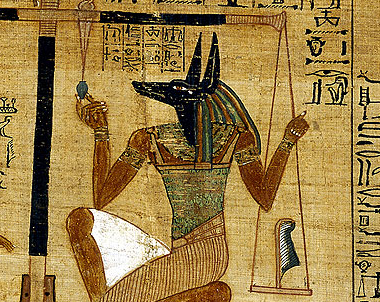 Anubis Weighing the Heart of the Souls - Photo British Museum- © Ancient Egypt