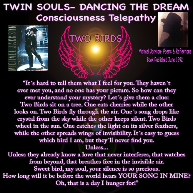 Twin Souls Dancing the Dream Michael Jackson Psychic Songwriter Skills Proven © TwinFlame Soul Official