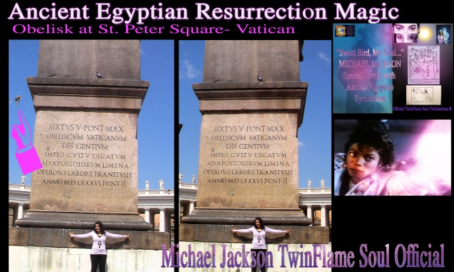Bird Circles Flight Resurrection Magic St Peter Square Obelisk © Michael Jackson TwinFlame Soul Official