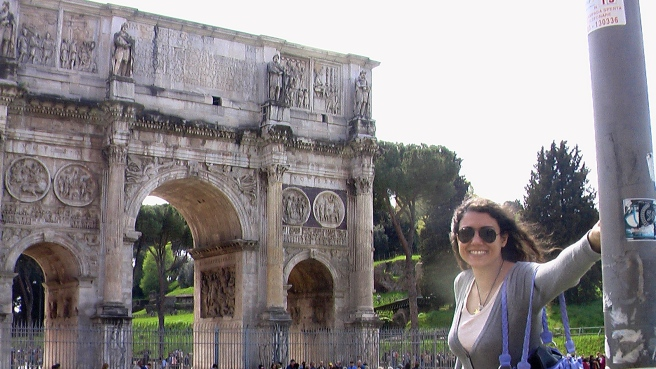 "Susan Elsa in Rome at the ""Arco Di Tito""- Arch of Tito (April 2015) © Michael Jackson TwinFlame Soul Official"
