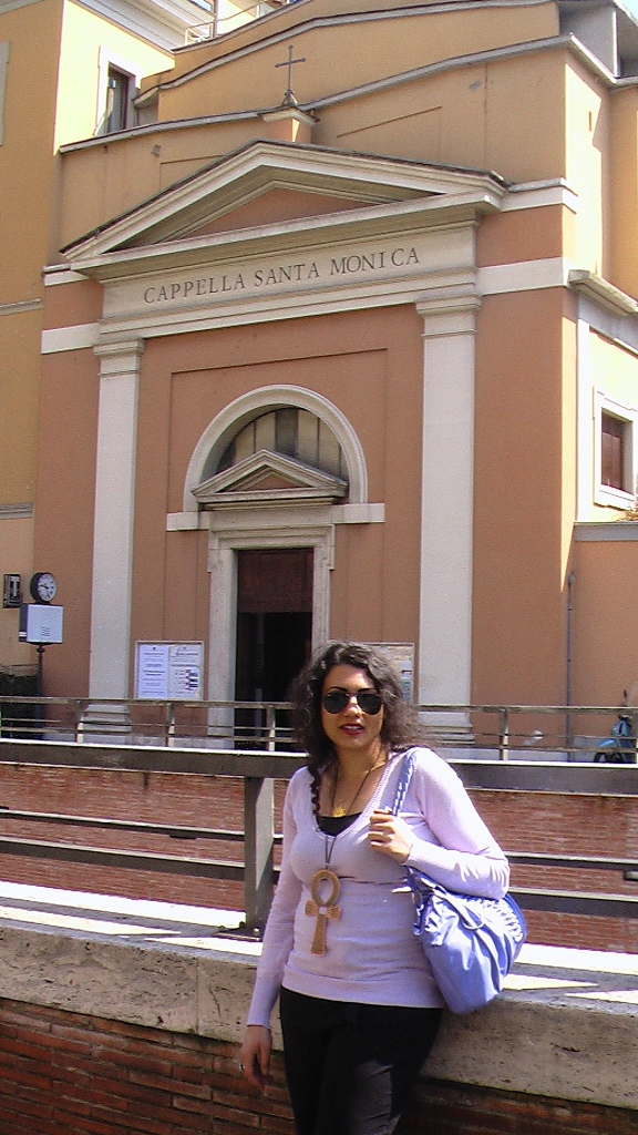 Susan Elsa at the Vatican in front of the Santa Monica Capella - Sunday 12th April 2015 © Michael Jackson TwinFlame Soul Official