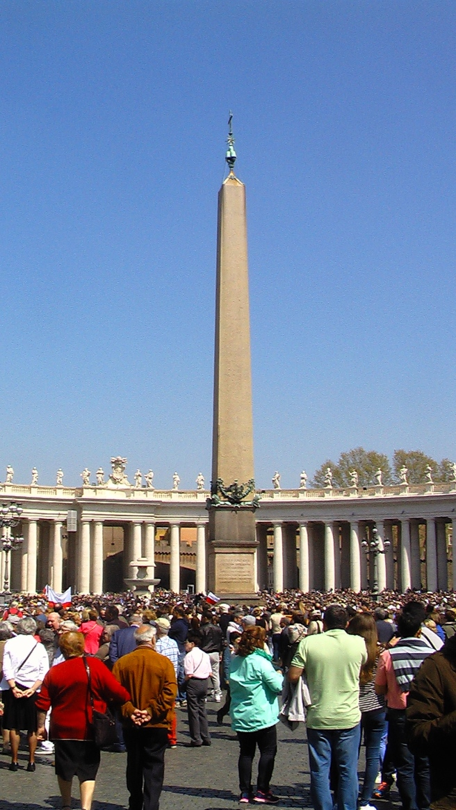 Obelisk at St Peter Square- Vatican- 12th April 2015 © Michael Jackson TwinFlame Soul Official