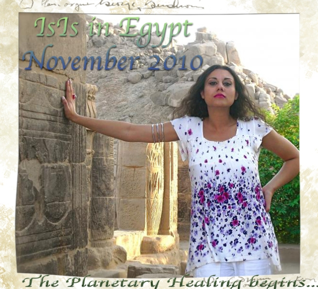 Susan Elsa Reincarnation of IsIs visiting Ancient Temple in Egypt © 2010 Susan Elsa for her Debut Album I REMEMBER/ Michael Jackson TwinFlame Soul Project Originals