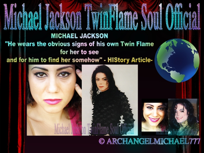 "MICHAEL JACKSON: ""He wears the obvious signs of his own Twin Flame for her to see and for him to find her somehow"" - HIStory Article- © Michael Jackson TwinFlame Soul Official"