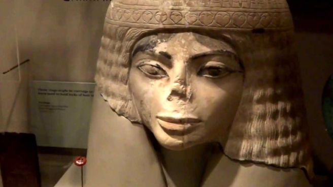 Chicago Field Museum Bust: Ancient Egyptian Female Statue looks like Michael Jackson (Photo for Mystery Educational Purpose)