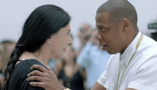 Marina Abramovic with Jay Z (Photo for educational Purpose)