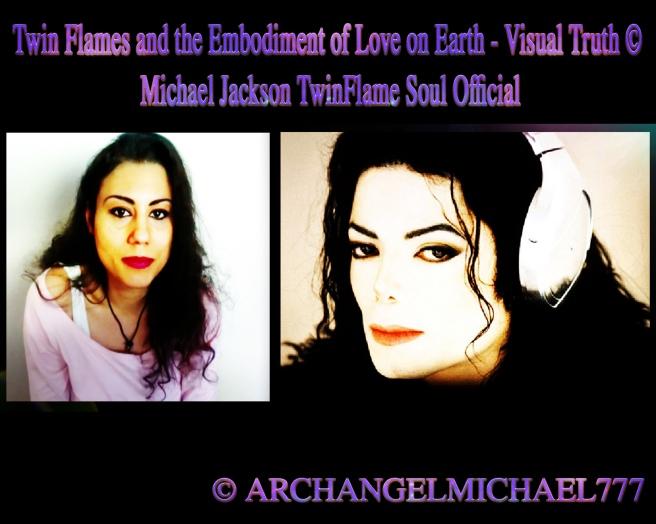 Twin Flames Embodiment of Love on Earth Visual Truth Similarity Look Alike Mirror Image Counterpart Same Soul -Michael Jackson Susan Elsa