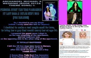 """Lady Gaga Taylor Swift steal Story from Susan Elsa´s Book """"Archangel Michael´s Wedding"""" about Psychic Love Spell Casting for a Girl to Bring Lover © Michael Jackson TwinFlame Soul Official"""