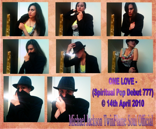 ONE LOVE 777- Spiritual Pop Debut 777- April 2010 by Susan Elsa and Twin Flame Soul Michael Jackson in Spirit- Psychic Channeling PR Pics ©