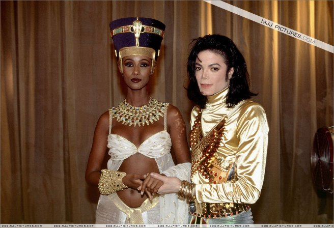 Michael Jackson and Iman (Nefertiti) for the REMEMBER THE TIME Project on Ancient Egypt and Twin Flame Message (Educational Purpose)