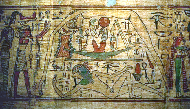 Geb and Nut (Earth God & Sky Goddess) mating together to Create Humanity - Educational Purpose: Original Ancient Egyptian Creation Myth