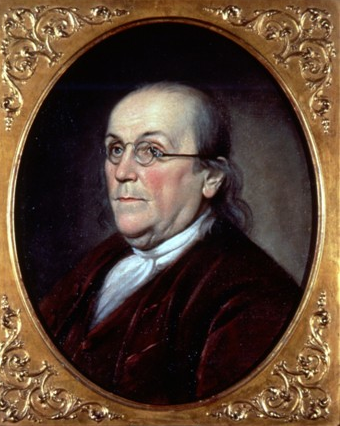 Benjamin-Franklin-Portrait by Charles Willson Peale, 1785
