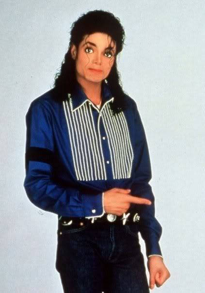 Michael Jackson late 80s: The Finger Pointing - Photo for Educational and Documentary Purpose