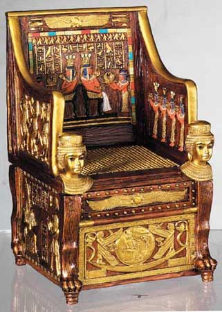 Ancient Egyptian Throne Original - PHOTO FOR EDUCATIONAL PURPOSE-