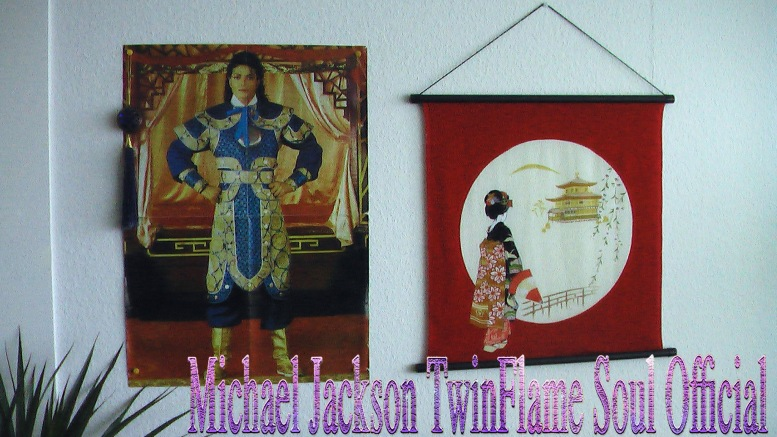 Halloween Decoration Chosen Warrior Poster of MJ and Geisha Flag (3 Dots) - TwinFlame Soul Official Wall at Home Someplace Else © TwinFlame Soul Official Blog