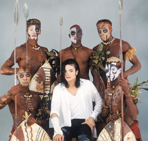 Michael Jackson- Making of BLACK OR WHITE (Dangerous Album) - Photo for educational and documentary purpose