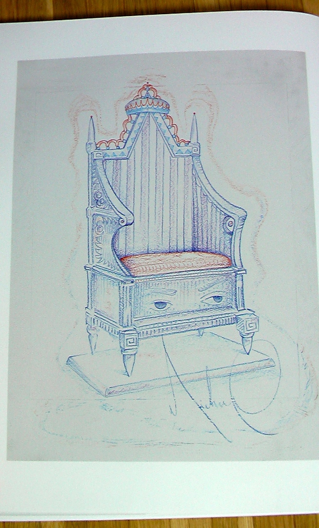 THE PRINCE´S EMPIRE CHAIR by Michael Jackson - Art Works by Michael Jackson/ Kunstwerke von Michael Jackson . published by Art Lima and Brett Livingstone (2015) -PHOTO FOR EDUCATIONAL AND DOCUMENTATION PURPOSES-