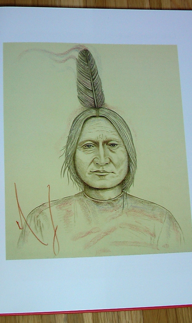 SITTING BULL by Michael Jackson - Art Works by Michael Jackson/ Kunstwerke von Michael Jackson . published by Art Lima and Brett Livingstone (2015) -PHOTO FOR EDUCATIONAL AND DOCUMENTATION PURPOSES-