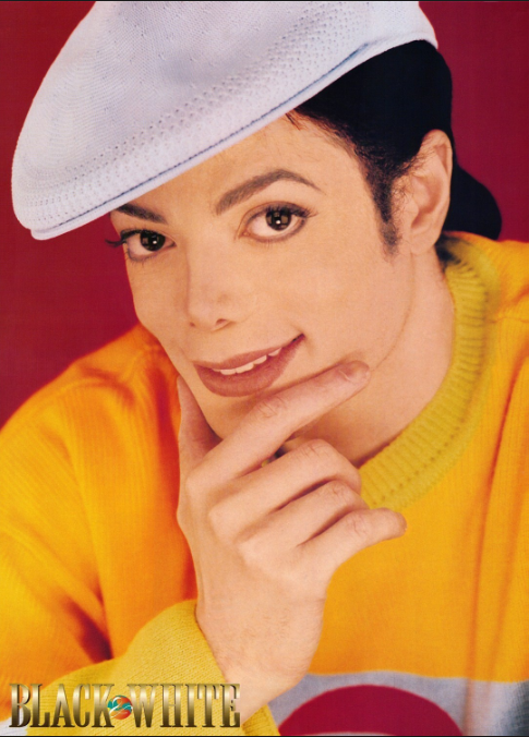 Michael Jackson VIBE Photoshooting Yellow Sweater (Photo for educational Purpose)