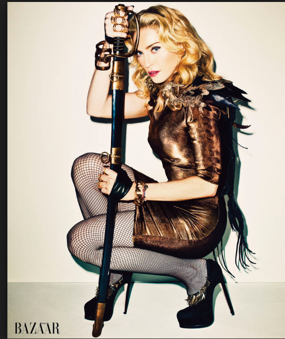 Madonna Harpers Bazaar Magazine Cover - Imitation of Sword Pose