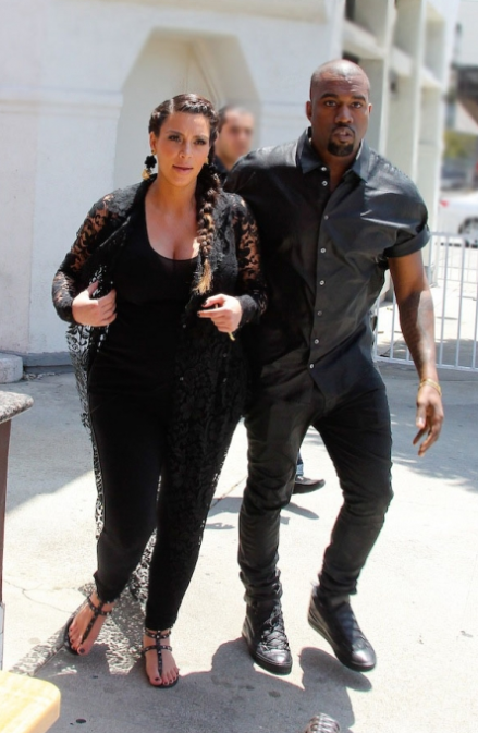 Kanye West and Kim Kardashian (Photo for educational Purpose)