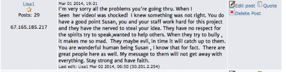 Lisa Torres abusing Label Forum and spying prior on Susan Elsa- TO THEN STALK AND SPREAD LIES FOR HOLLYWOOD COPYCATS!