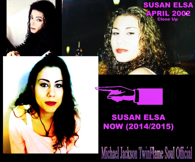 Susan Elsa Comparing Photos 2002 and 2015 after Twin Flame Merging Physically Visible © Michael Jackson TwinFlame Soul Official
